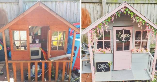The Wendy House looked unrecognisable (Credit: Facebook/ Becky Alice)