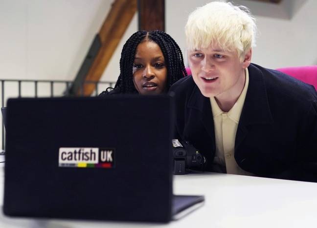 The pair sleuth out UK catfish (Credit: MTV)