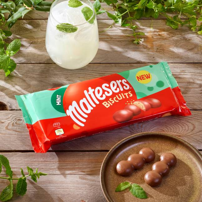 Each biscuit has three light seriously minty, malty bobbles, smothered in smooth milk chocolate (Credit: Maltesers)