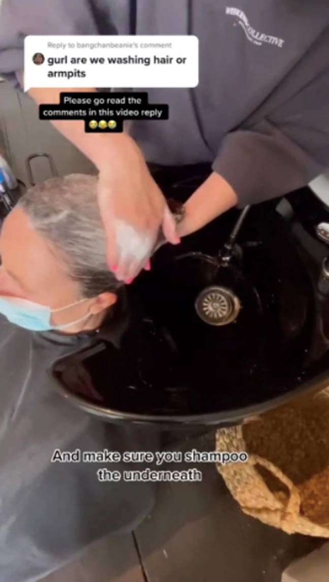 The shampoo should only be applied to the scalp (Credit: TikTok - @sarahbrawleyhair)