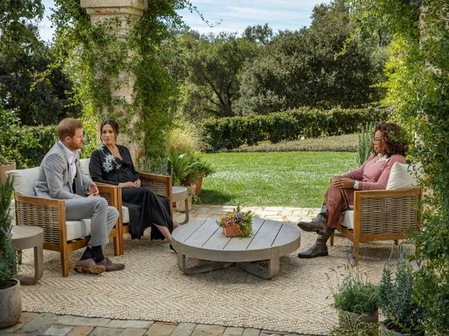 Meghan and Harry spoke to Oprah for a two hour interview (Credit: CBS)