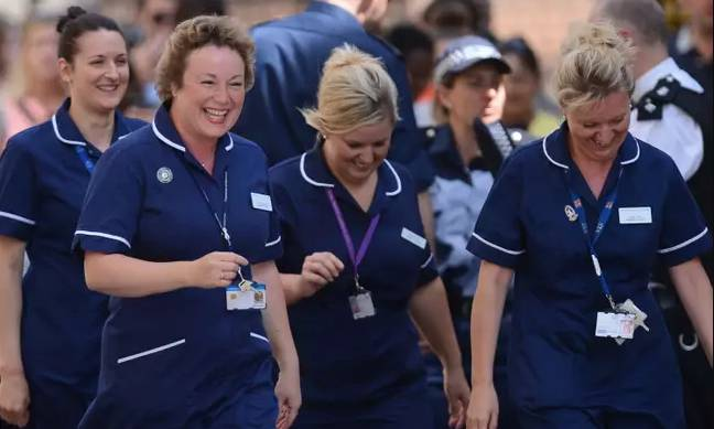 NHS workers get 2 x £10 vouchers to use on food or taxis (Credit: PA)