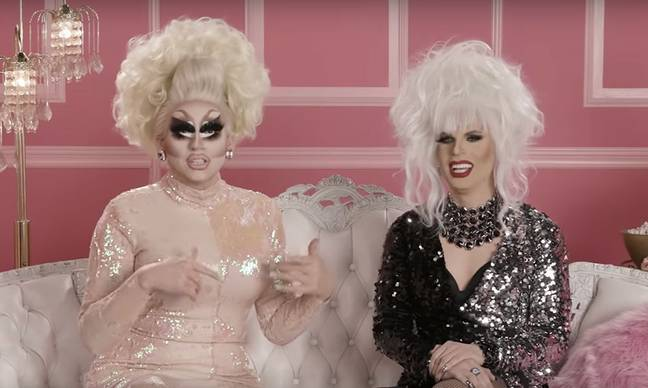 Trixie Mattel and Katya host the original US show (Credit: Netflix)