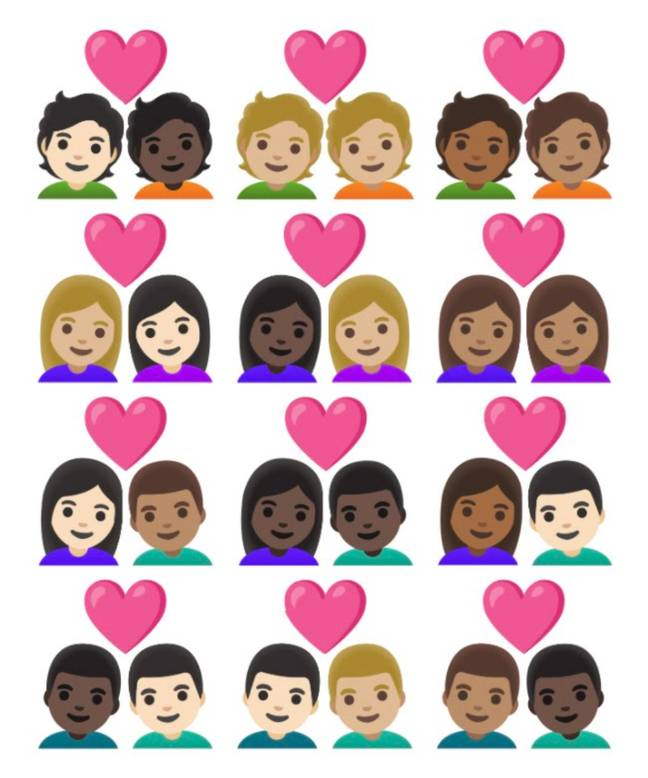 200 out of the 217 new emojis will be dedicated to including different skin tone options (Credit: The Unicode Consortium)