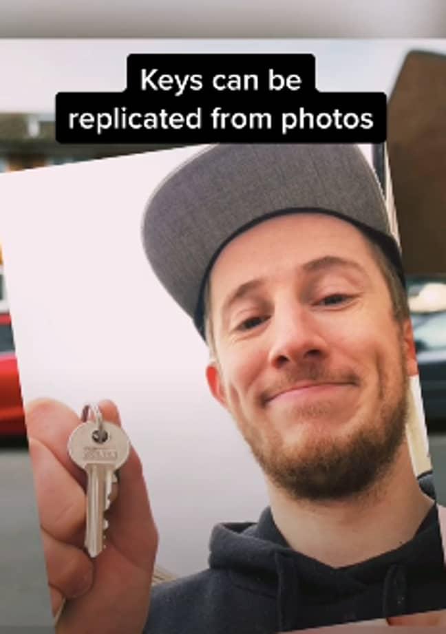 The TikTok user warned against sharing key pictures (Credit: TikTok/ @thatpropertyguy)