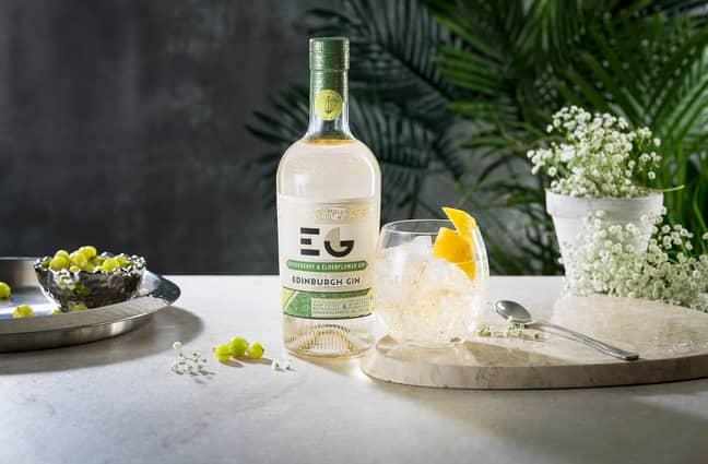The gooseberry and elderflower gin is 40 per cent ABV (Credit: Edinburgh Gin)