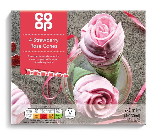 Priced at £2, the rose cones arrive in Co-op stores from Saturday 1st February (Credit: Co-op)