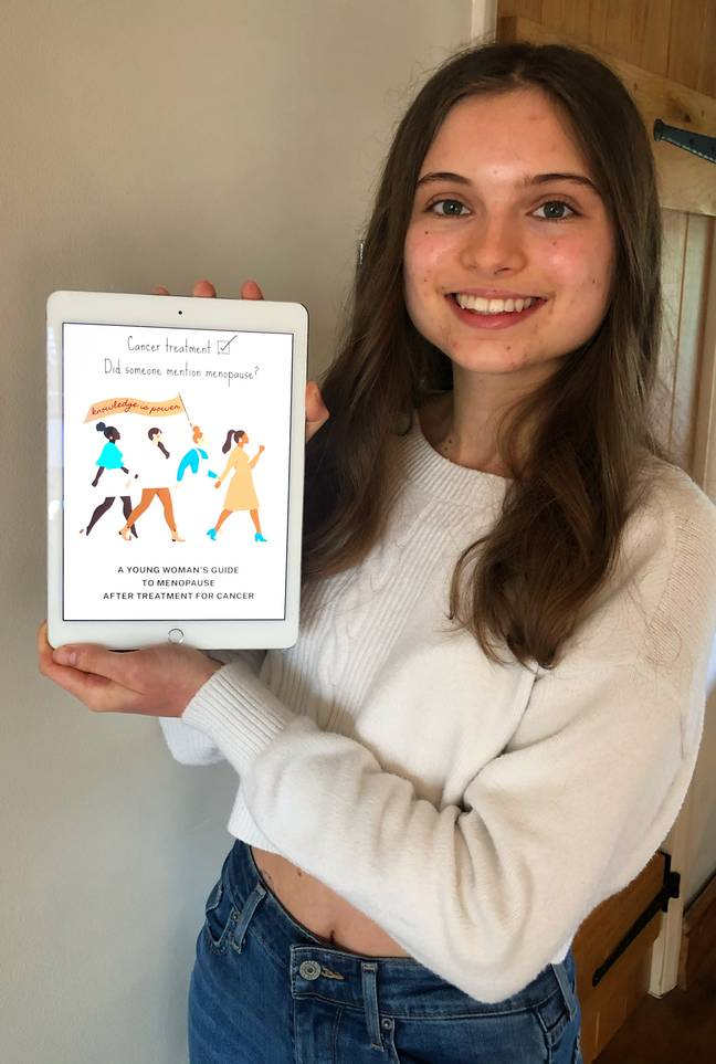 Ellie and a menopause specialist have created a booklet for young women going through menopause (Credit: Caters)