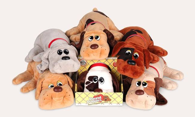 The soft toy dogs were first put out by toy giants Irvin back in 1984, and later by Tonka in 1985 (Credit: Irvin / Tonka)