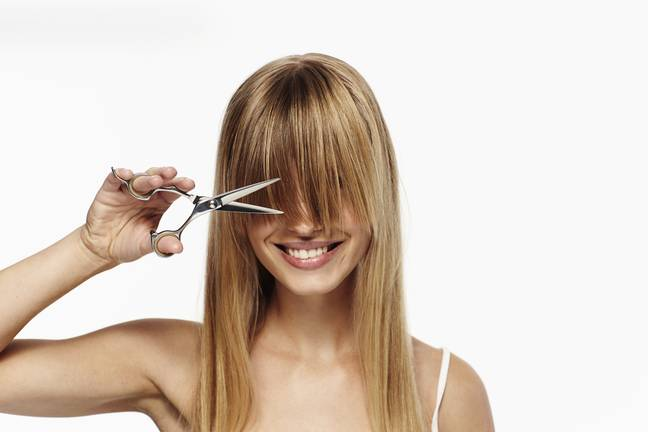 Here's how to cut a straight fringe from home (Credit: Shutterstock)