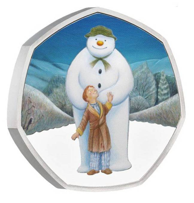A limited number of The Snowman coins are available (Credit: Royal Mint)