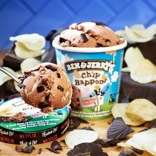 The new flavour combines chocolatey ice cream with fudge bits and crunchy potato chips (Credit: Ben & Jerry's / Instagram)
