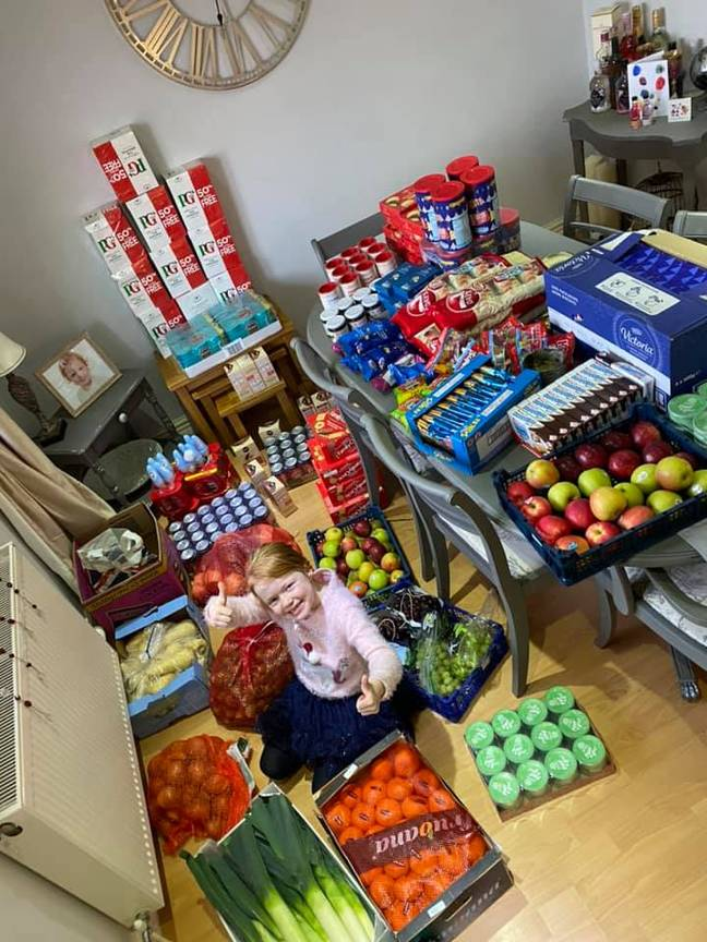 Some of the money has been used to make food hampers for a local charity called HATS housing that re-houses the homeless (Credit: Lauren Bamford)