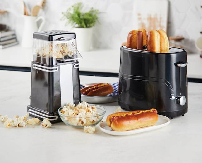 Also get your hands on a popcorn maker and hot dog toaster in Aldi (Credit: Aldi)