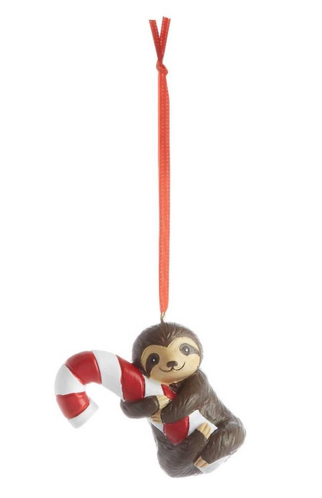 Primark's smiley sloth Christmas decoration, £1.50, is a perfect stocking filler for sloth lovers (Credit: Primark)