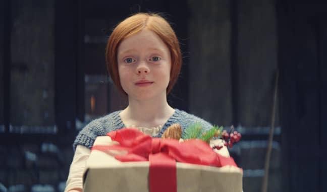 Ava gives Edgar a special gift at Christmas. (Credit: John Lewis)