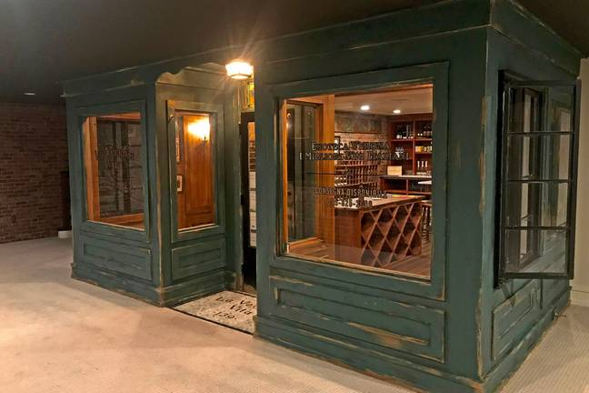 It looks like an actual wine shop! (Credit: Caters News)