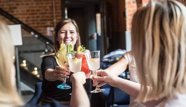 When the tour ends, unwind with a refreshing complimentary cocktail at the Mill Bar (Credit: Bombay Sapphire Distillery / Klook)
