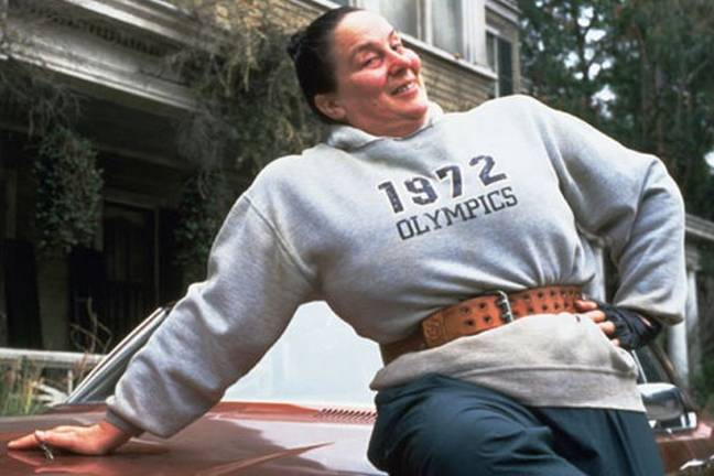 Miss Trunchbull, played by Pam Ferris in the 1996 film (Credit: Jersey Films)
