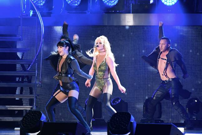 Britney Spears performing at her Piece of Me Las Vegas residency concert. She has not performed since 2018 (Credit: PA)