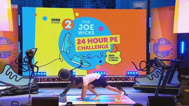 Joe Wicks took part in a 24 hour PE challenge for Children In Need (Credit: BBC)