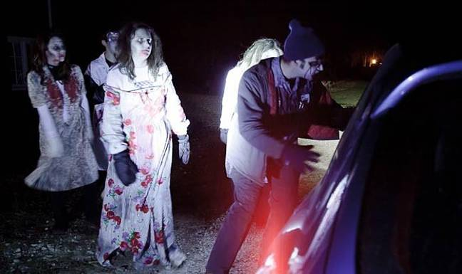 Visitors drive to different scare points with live actors popping up along the way (Credit: Cyclone Events Management)