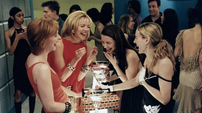 Carrie and her friends knew how to make the most of a shmaltz-free evening (Credit: HBO)