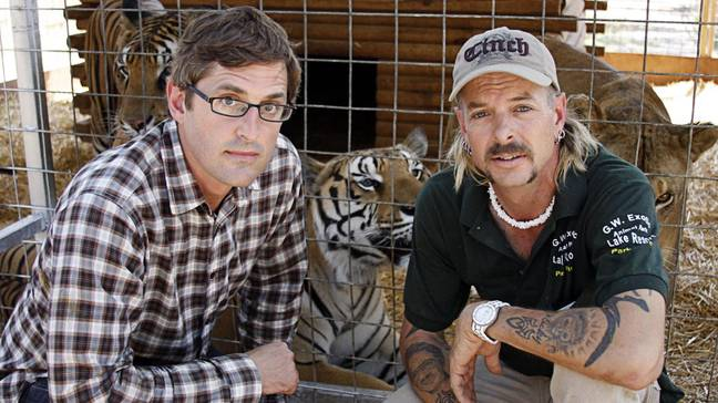 Louis Theroux and Joe Exotic in America's Most Dangerous Pets back in 2011 (Credit: BBC/Netflix)