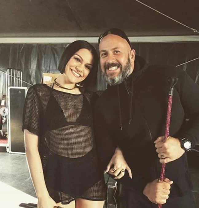 Jessie posted a heartfelt tribute to Dave her bodyguard. (Credit: Instagram/Jessie J)