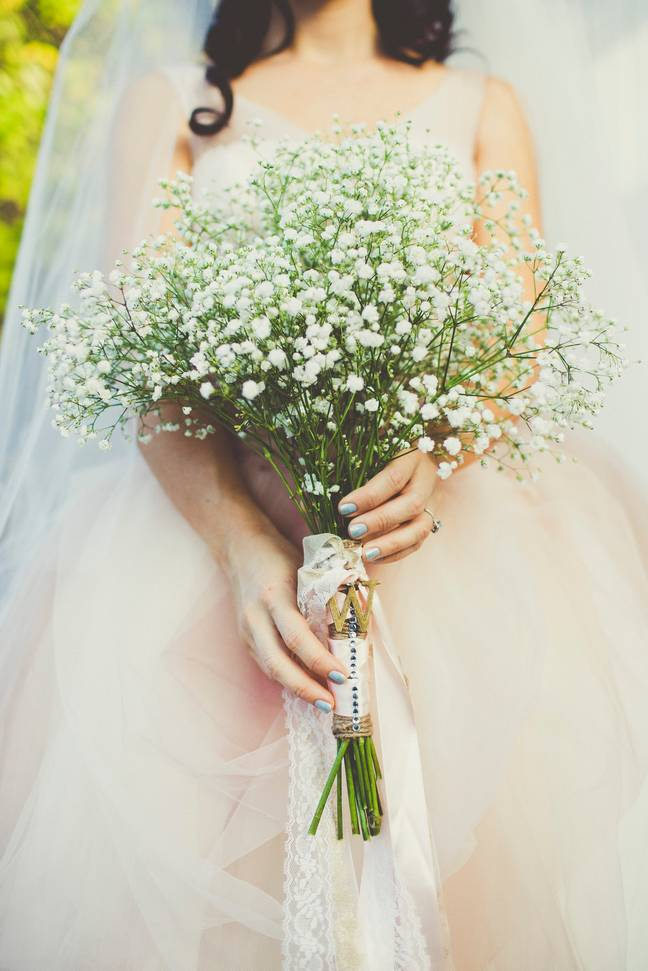 The bride was worried the baby would detract from her big day (Credit: Shutterstock)