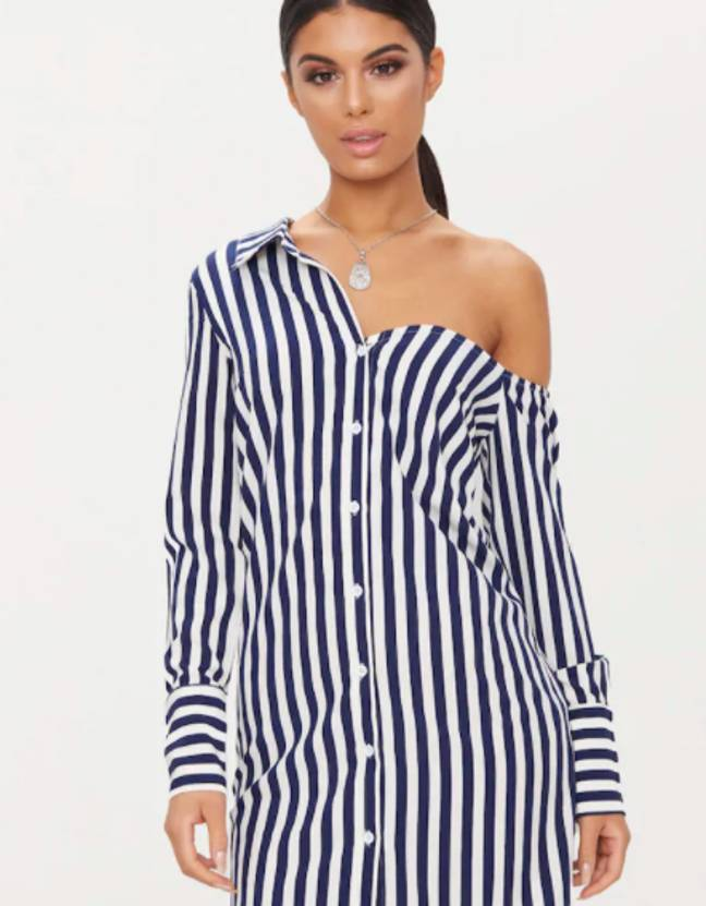 Off shoulder is now stylish *and* practical (Credit: PrettyLittleThing)