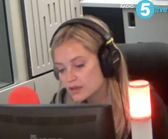 Laura Whitmore made an emotional statement to Caroline (Credit: BBC Radio 5 Live)