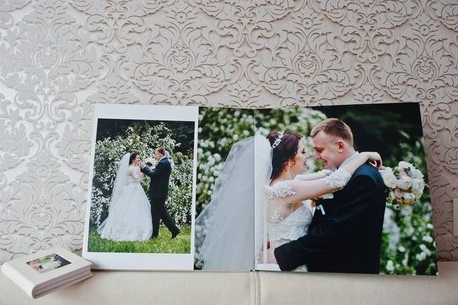 Many said they would not be comfortable with wedding photos up around the house (Credit: Shutterstock)