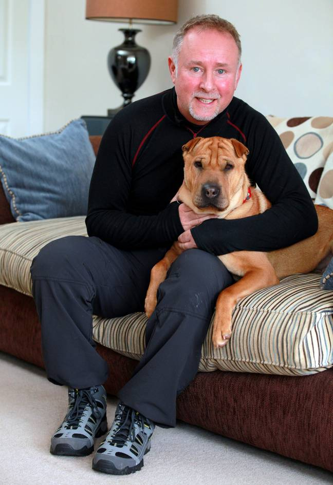 Kai is happily settled with new owner Russell now (Credit: SWNS)