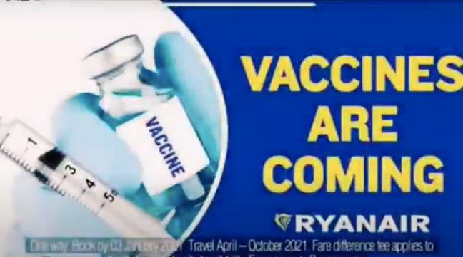 The advert made some stark claims that many complained about (Credit: RyanAir/YouTube)