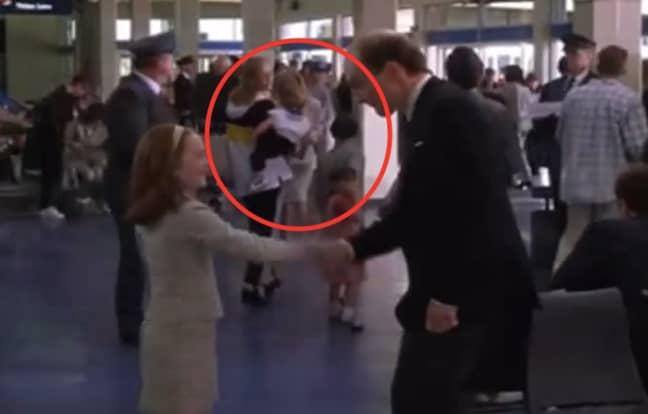 Lindsay's mum and siblings featured in the airport scene too (Credit: Disney)