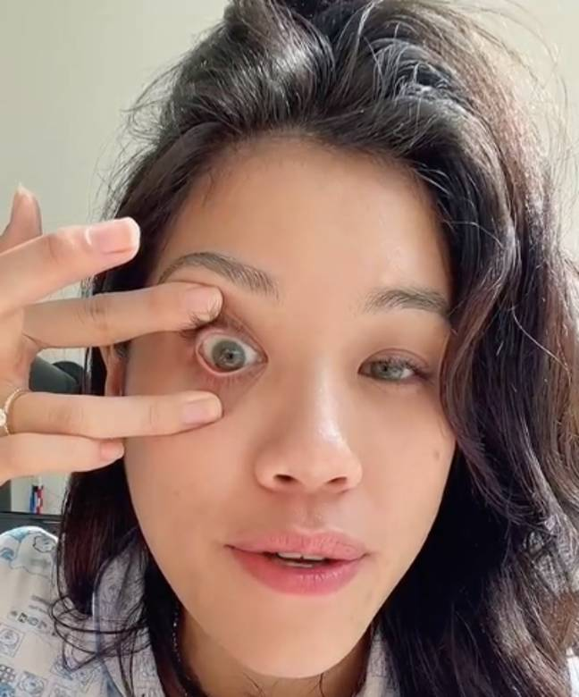 The TikTok user revealed a mega easy way to remove contacts (Credit: Jam Press)