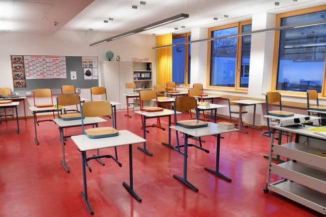 Schools won't open until March (Credit: PA)