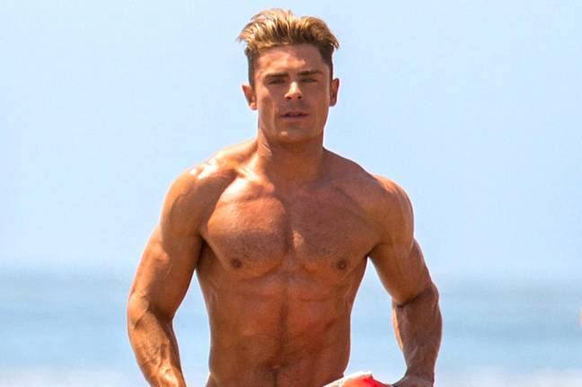 Zac Efron's 'Baywatch body took hours of training (Credit: Baywatch/ Paramount Pictures)