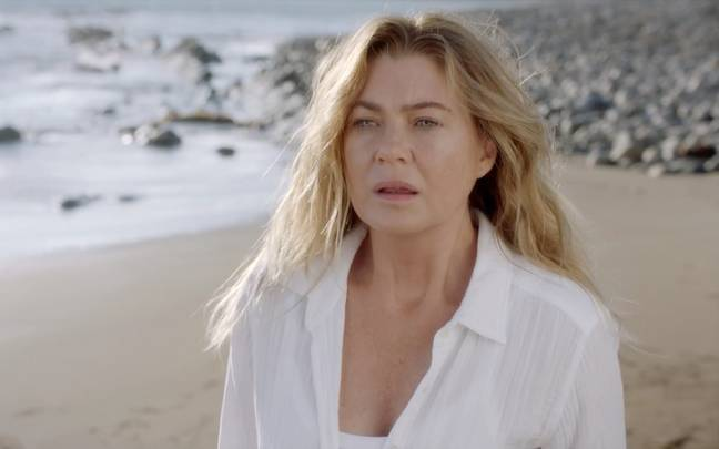 Derek appeared as a vision to Meredith in a dream sequence (Credit: ABC)