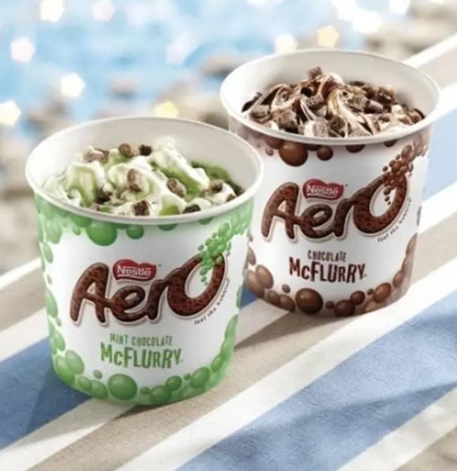 The Aero McFlurries have returned (Credit: McDonald's)
