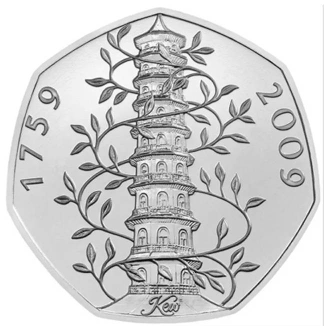 This Kew Gardens coin is the rarest in circulation (Credit: Royal Mint)