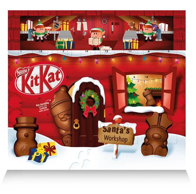 There's also a KitKat Santa advent calendar (Credit: Nestlé)