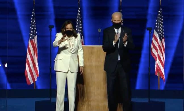 Joe Biden and Kamala Harris will be sworn in later this month (Credit: PA)