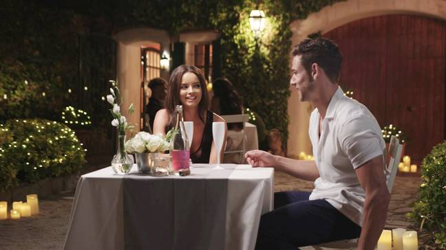 Maura goes on a date with new Islander Tom. Credit: Love Island / ITV2