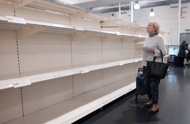 Many UK supermarkets are being stripped bare (Credit: PA)