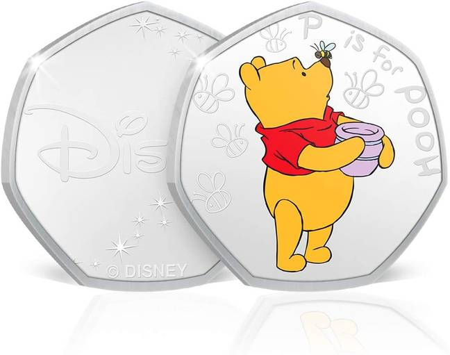 The 50p could look something similar to this one from The Koin Club, featuring Pooh in his red jumper (Credit: The Koin Club/Amazon)