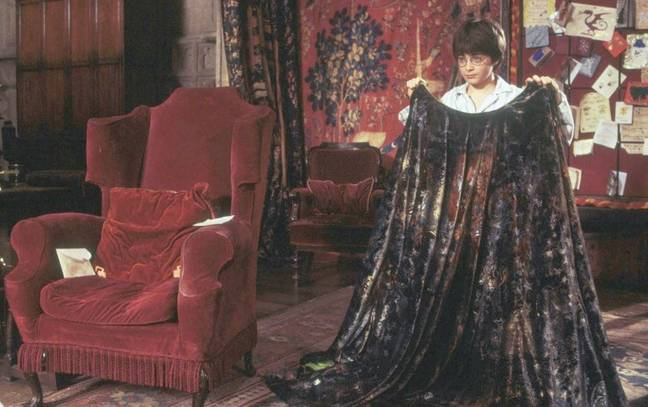 Harry Potter was gifted the cloak in the first film (Credit: Warner Bros)
