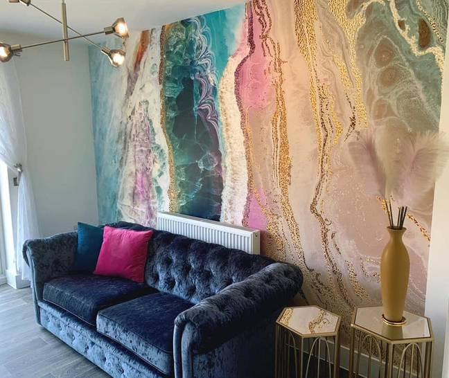 The mural wallpapers come priced at £34/m2 (Credit: Sophie Nicholls)