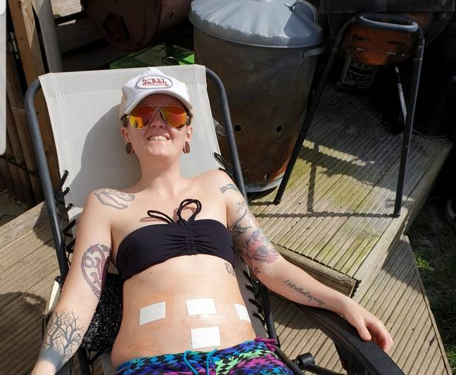 At 27, she was diagnosed with endometriosis. (Credit: SWNS)